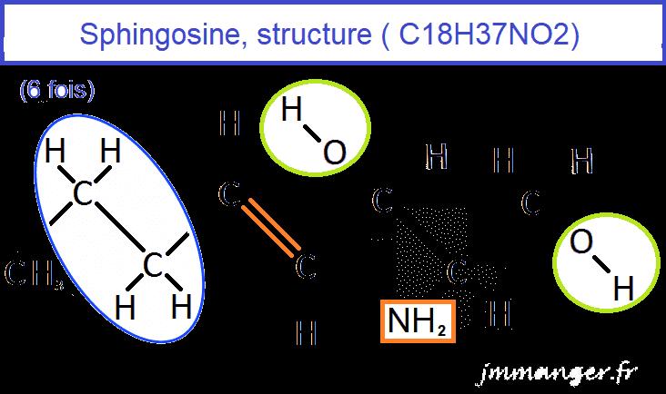 Structure de la sphingosine